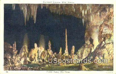 Totem Poles, Big Room - Carlsbad Caverns, New Mexico NM Postcard