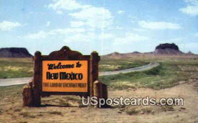Land of the Enchantment - Misc, New Mexico NM Postcard