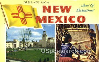 Greetings from, NM Postcard       ;       Greetings from, New Mexico