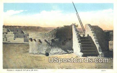 Pueblo Indian Estufa of Kivi - Misc, New Mexico NM Postcard