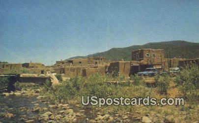 South Pueblo - Taos Pueblo, New Mexico NM Postcard