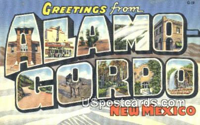 Alamogordo, NM Postcard       ;       Alamogordo, New Mexico