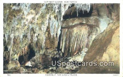 King's Palace - Carlsbad Caverns, New Mexico NM Postcard