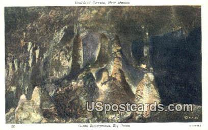 Giant Stalagmites, Big Room - Carlsbad Caverns, New Mexico NM Postcard