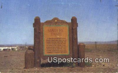 Marker on the Santa Fe Trail - Raton, New Mexico NM Postcard