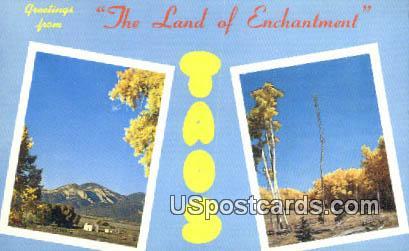 Hondo Canyon - Taos, New Mexico NM Postcard