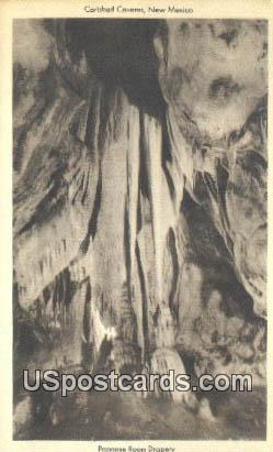 Papoose Room Drapery - Carlsbad Caverns, New Mexico NM Postcard