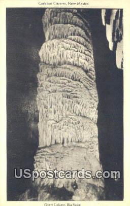 Giant Column, Big Room - Carlsbad Caverns, New Mexico NM Postcard