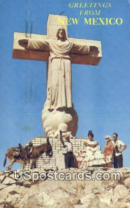 Sierra Del Christa Rey Statue - Misc, New Mexico NM Postcard