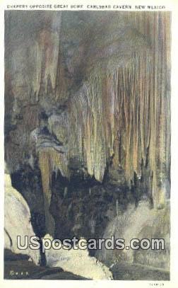 Drapery Curtains - Carlsbad Caverns, New Mexico NM Postcard