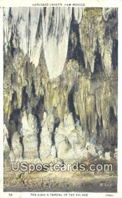 King's Throne - Carlsbad Caverns, New Mexico NM Postcard