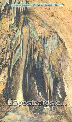 Lower Chambers - Carlsbad Caverns, New Mexico NM Postcard