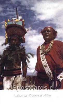 Indians, Ceremonial Attire - Misc, New Mexico NM Postcard