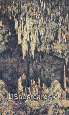 Stalagmites, King's Palace - Carlsbad Caverns, New Mexico NM Postcard
