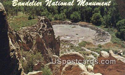 Bandelier National Monument - Frijoles Canyon, New Mexico NM Postcard
