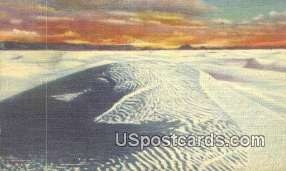 Great White Sands National Monument - Alamogordo, New Mexico NM Postcard