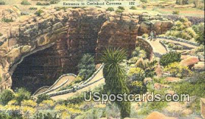 Carlsbad Caverns, NM Postcard       ;       Carlsbad Caverns, New Mexico