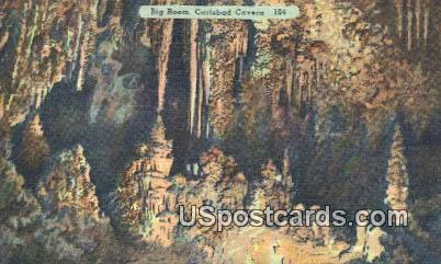 Big Room - Carlsbad Caverns, New Mexico NM Postcard