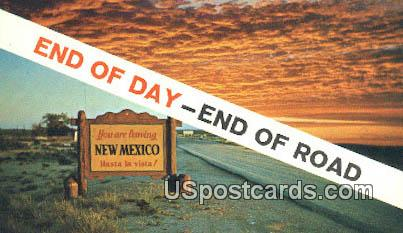 Roadway at End of Day - Misc, New Mexico NM Postcard