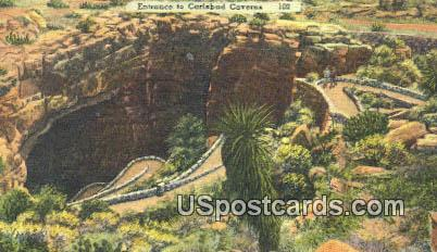 Entrance - Carlsbad Caverns, New Mexico NM Postcard