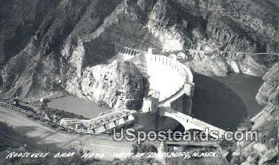 Real Photo - Roosevelt Dam - Lordsburg, New Mexico NM Postcard