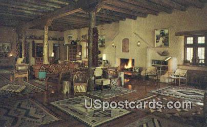 Lobby, Sagerush Inn - Taos, New Mexico NM Postcard