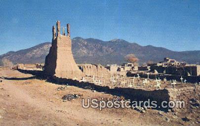 Mission Ruins San Geronnimo - Taos, New Mexico NM Postcard
