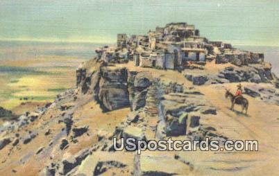 The Mesa & Old Walpi - Misc, New Mexico NM Postcard