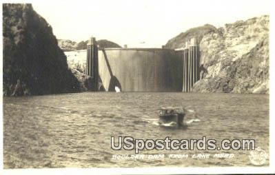 Real Photo - Boulder Dam - Lake Mead, New Mexico NM Postcard