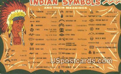 Indian Symbols - Misc, New Mexico NM Postcard