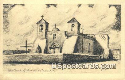 Church of Ranchos de Taos - New Mexico NM Postcard