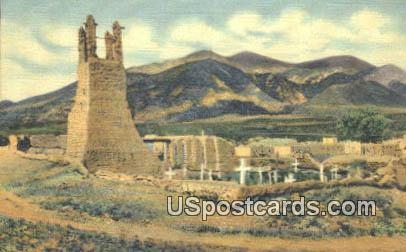 Ruins of Old Indian Mission - Taos Pueblo, New Mexico NM Postcard