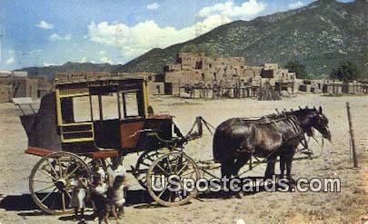 Historic Indian Pueblo Village - Taos, New Mexico NM Postcard