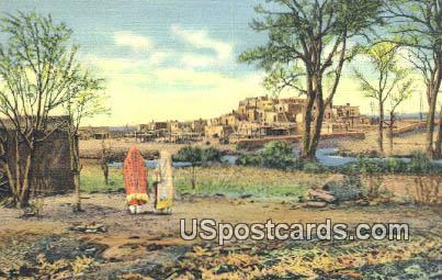 Indian Pueblo or Settlement - Pueblo de Taos, New Mexico NM Postcard