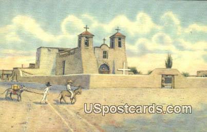 Church - Ranchos de Taos, New Mexico NM Postcard
