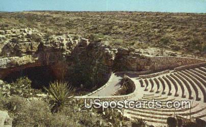 Bat Flight Amphitheater - Carlsbad Caverns, New Mexico NM Postcard