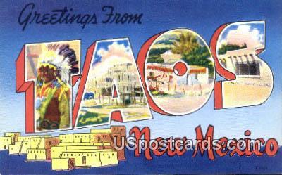 Taos, New Mexico Postcard       ;       Taos, NM
