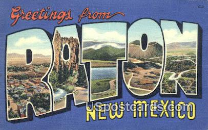 Raton, New Mexico Postcard       ;       Raton, NM