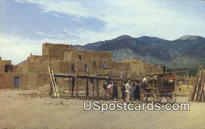 Tourists - Taos Pueblo, New Mexico NM Postcard
