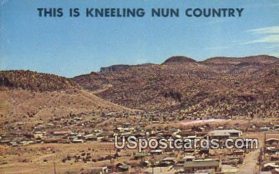 Kneeling Nun Background - Bayard, New Mexico NM Postcard