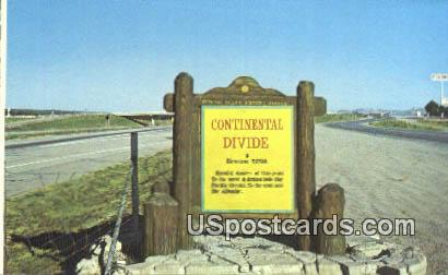 Continental Divide, New Mexico Postcard       ;       Continental Divide, NM