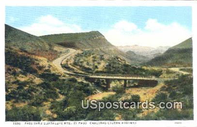 Pass Thru Guadalupe Mountains - El Paso, New Mexico NM Postcard
