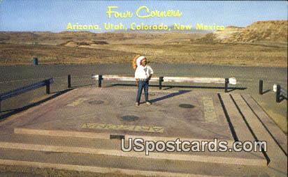 Four Corners, NM Postcard       ;       Four Corners, New Mexico