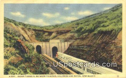 Raton Tunnels, Trinidad - New Mexico NM Postcard