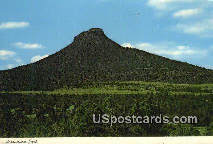 Larger size postcard Starvation Peak - Las Vegas, New Mexico NM