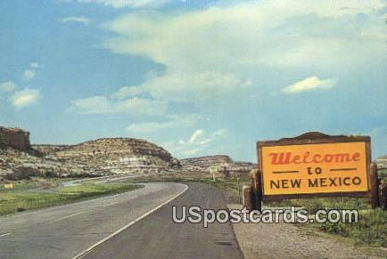 Larger size postcard - Misc, New Mexico NM