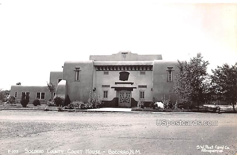 Socorro County Court House - New Mexico NM Postcard