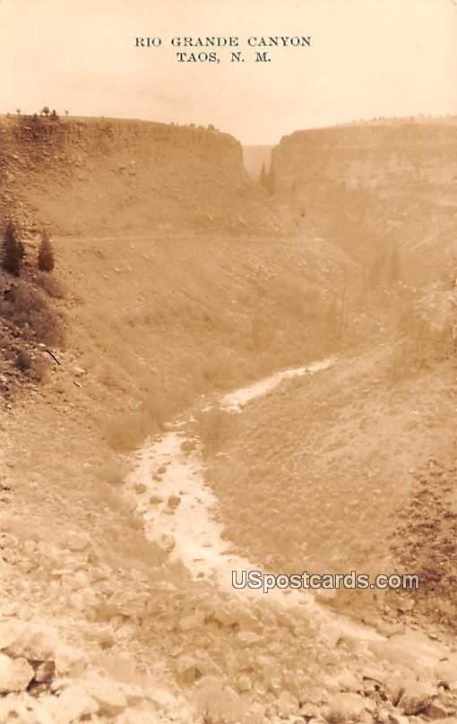 Rio Grande Canyon - Taos, New Mexico NM Postcard