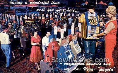 Gambling Casino - Las Vegas, Nevada NV Postcard