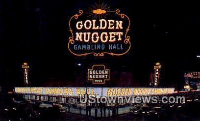 Million Dollar Golden Nugget Gambling Hall - Las Vegas, Nevada NV Postcard